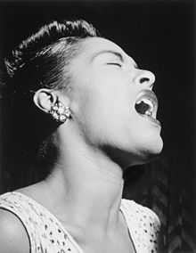 Billie Holiday en pleine action...