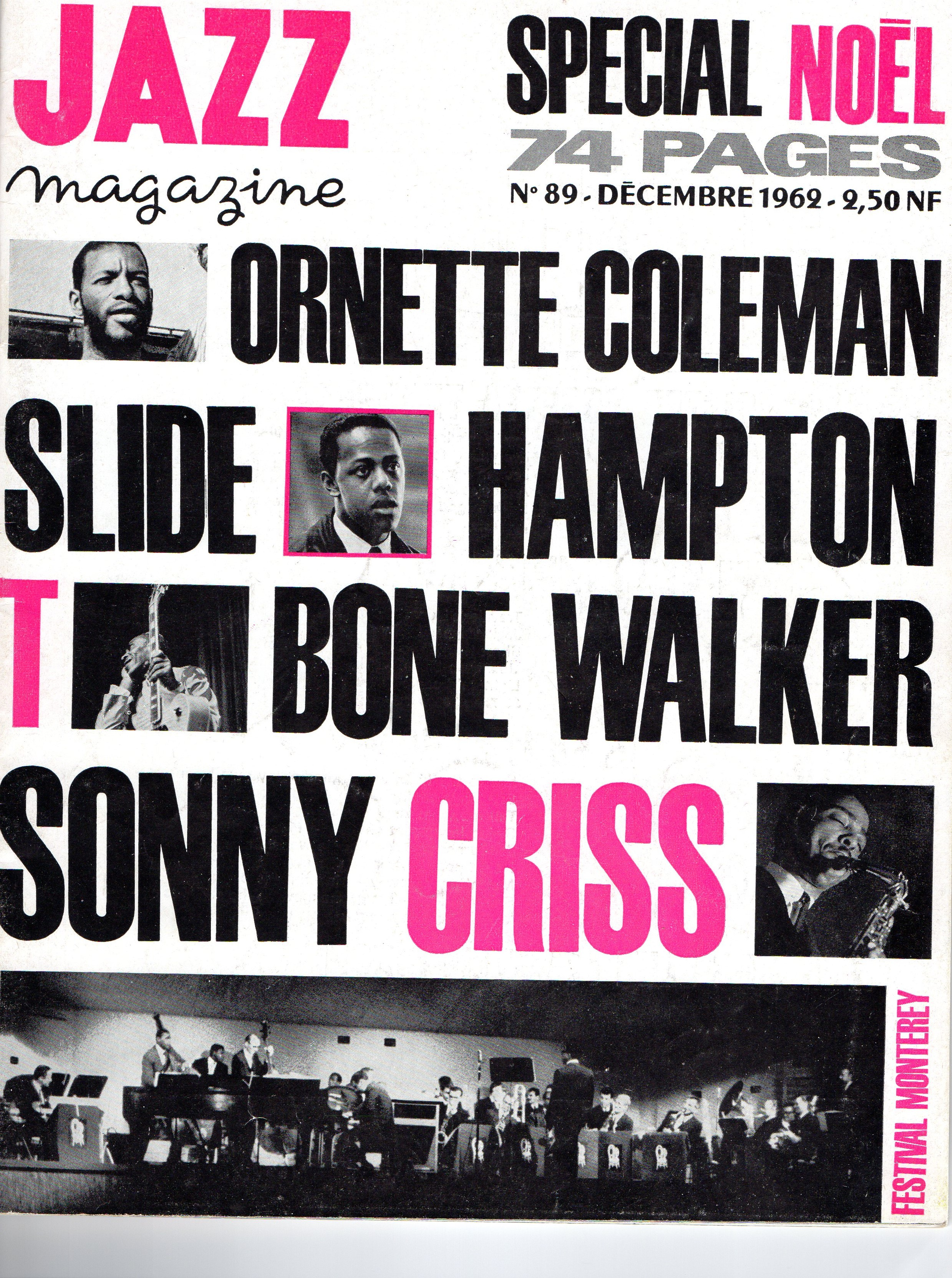 première page de Jazz mag n° 89 de décembre 1962